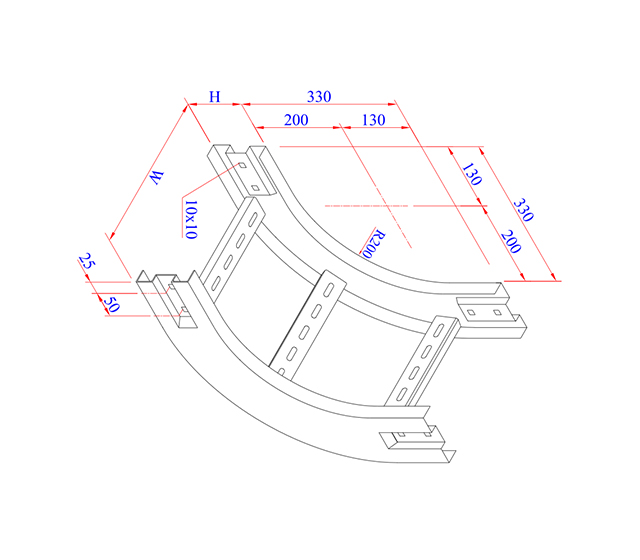 Elbow 90 (Degree) Vertical Inside
